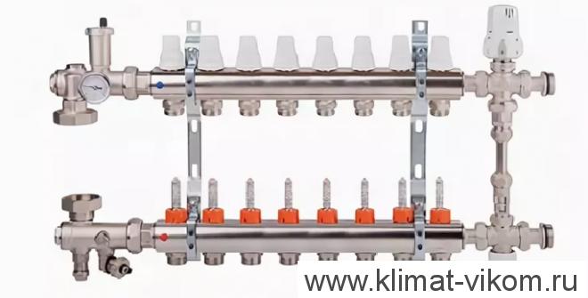 """Коллектор с расходомерами и смесительным узлом ICMA  1""""/3/4"""" (8)"""
