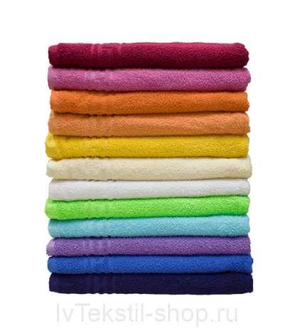 Махровое полотенце гладкокрашеное 100х150