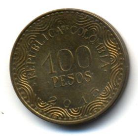 Колумбия 100 песо 2015
