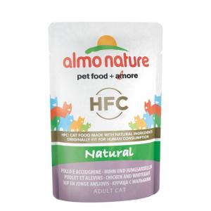 Almo Nature Паучи для Кошек с Курицей и Сардинками (Classic Nature - Chicken&White Bait) 55 гр.