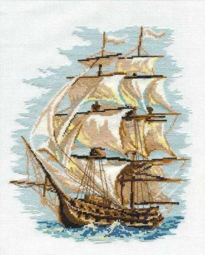 Набор для вышивания крестом Корабль арт. 479 фирма Риолис