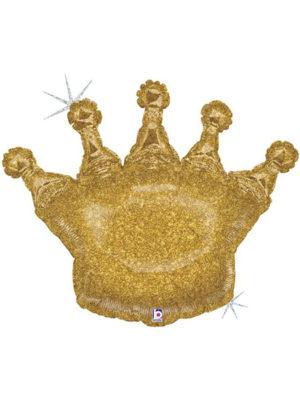 Корона большая глиттер (голография) шар фольгированный с гелием