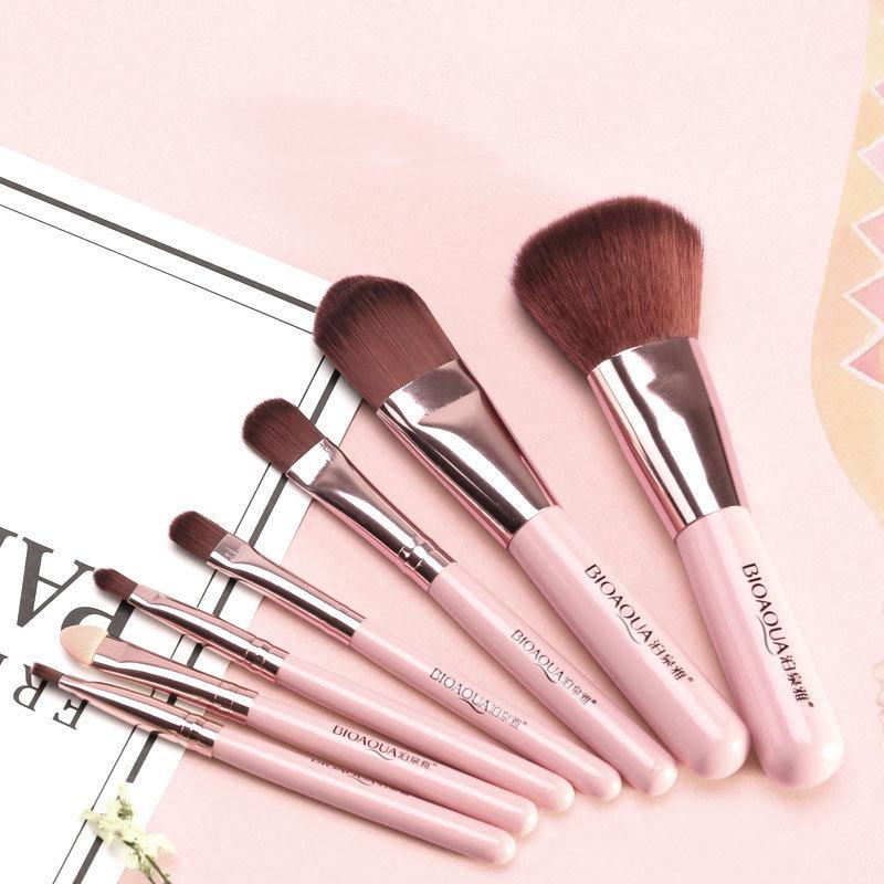 Набор кистей BioAqua Make Up Beauty, 7 кистей (розовый)