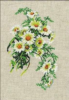 Набор для вышивания крестом Букет ромашек №582 фирма Риолис