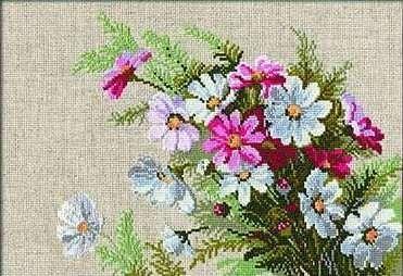 Набор для вышивания крестом Космеи №583 фирма Риолис