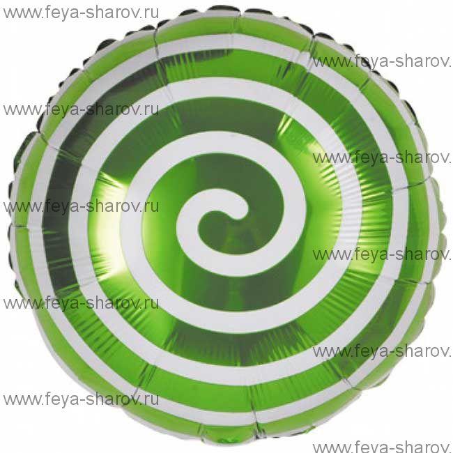 Шар Леденец Спираль 46 см