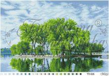 ТП026 Барвиста Вышиванка. Летний Островок Посреди Озера. А2 (набор 3900 рублей)