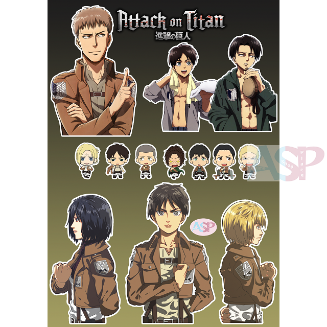 Стикеры Attack on Titan