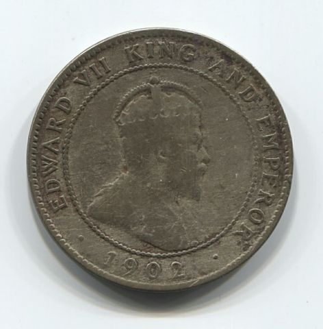 1 пенни 1902 года Ямайка