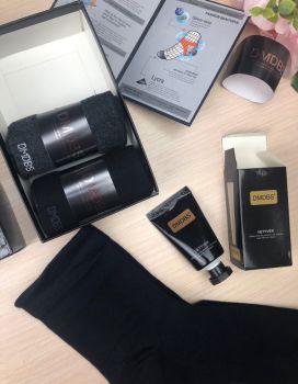Люкс носки мужские в коробке + лосьон в подарок №AF210
