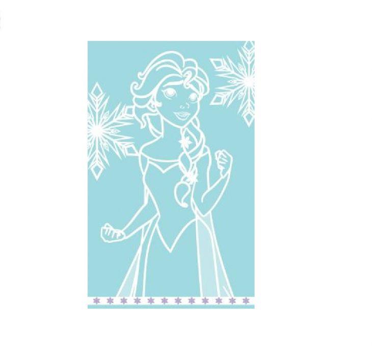 Полотенце Disney  50х80 Frozen Elsa Аква/белый 745035