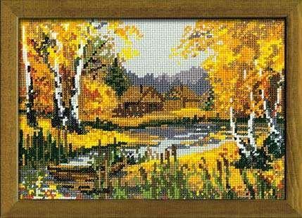 Набор для вышивания крестом Осеннее очарование №920 фирма Риолис