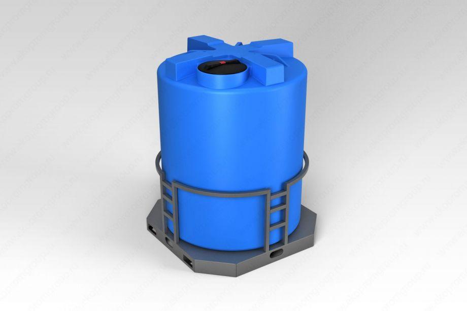 Емкость T 3000 литров в обрешетке