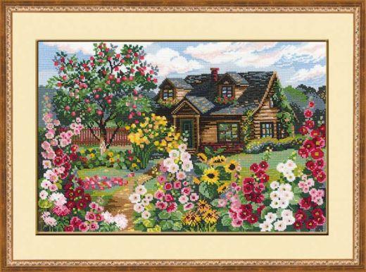 Набор для вышивания крестом Цветущий сад №978 фирма Риолис