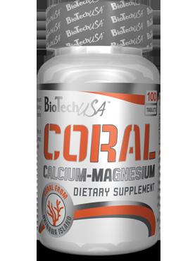 Coral Calcium Magnesium от BioTechUSA 100 таб