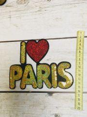Париж нашивка паетки