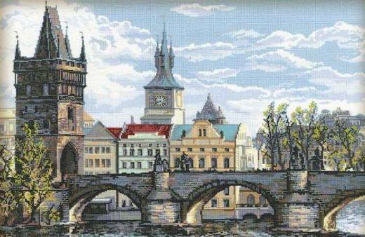 Набор для вышивания крестом Прага. Карлов мост № 1058 фирма Риолис
