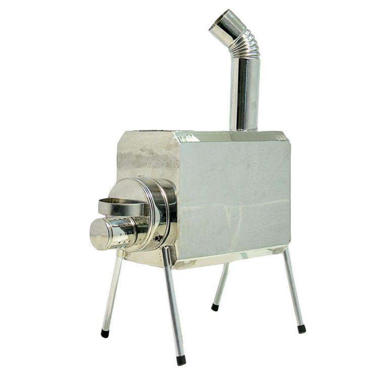 Печка-Пошехонка Турист 25 л с встроенным искрогасителем
