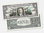 1 доллар США - В.В. Путин (с надпечаткой)