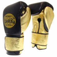 Перчатки боксерские LEADERS LeadSeries Limited BK/BK/GD