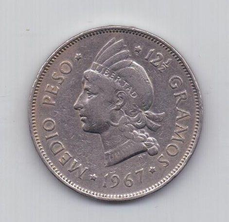 1/2 песо 1967 года Доминиканская республика