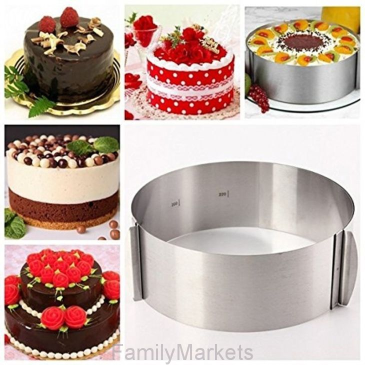 Раздвижное кольцо для выпечки Cake Ring, 16-30 см