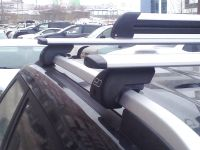Багажник на рейлинги Hyundai Creta, Евродеталь, крыловидные дуги