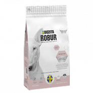 BOZITA ROBUR Sensitive Salmon & Rice Сбалансированный сухой корм для взрослых собак с чувствительным пищеварением,3кг