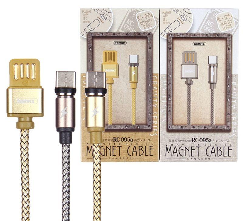 Кабель USB Remax RC-095a Type-C магнитный (1 метр) (gold)