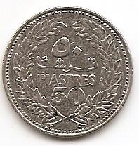 50 пиастров (регулярный выпуск) Ливан 1968