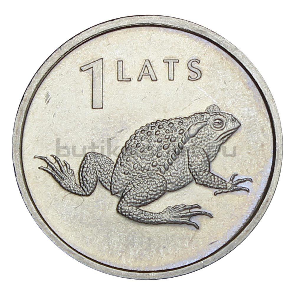 1 лат 2010 Латвия Лягушка