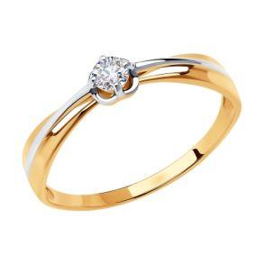 Кольцо из золота с фианитом Swarovski 81010470 SOKOLOV