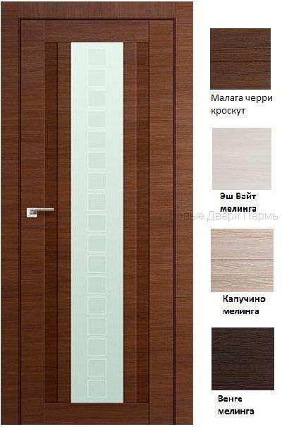 16Х Квадро дверь со стеклом PROFIL DOORS межкомнатная