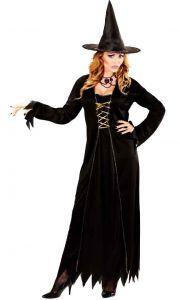 Платье ведьмочки с бархатной накидкой