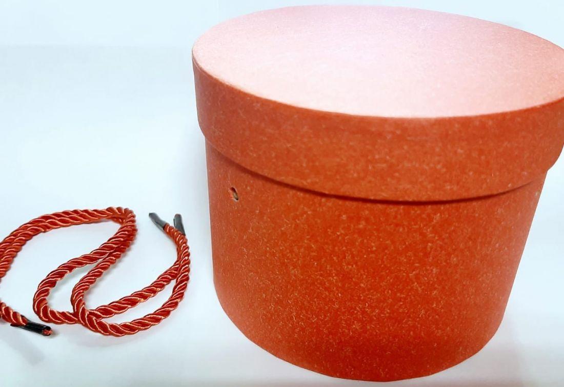 Коробка круглая красная
