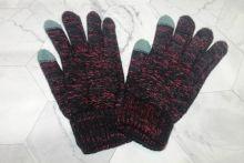Вязаные шерстяные женские и подростковые сенсорные перчатки черные