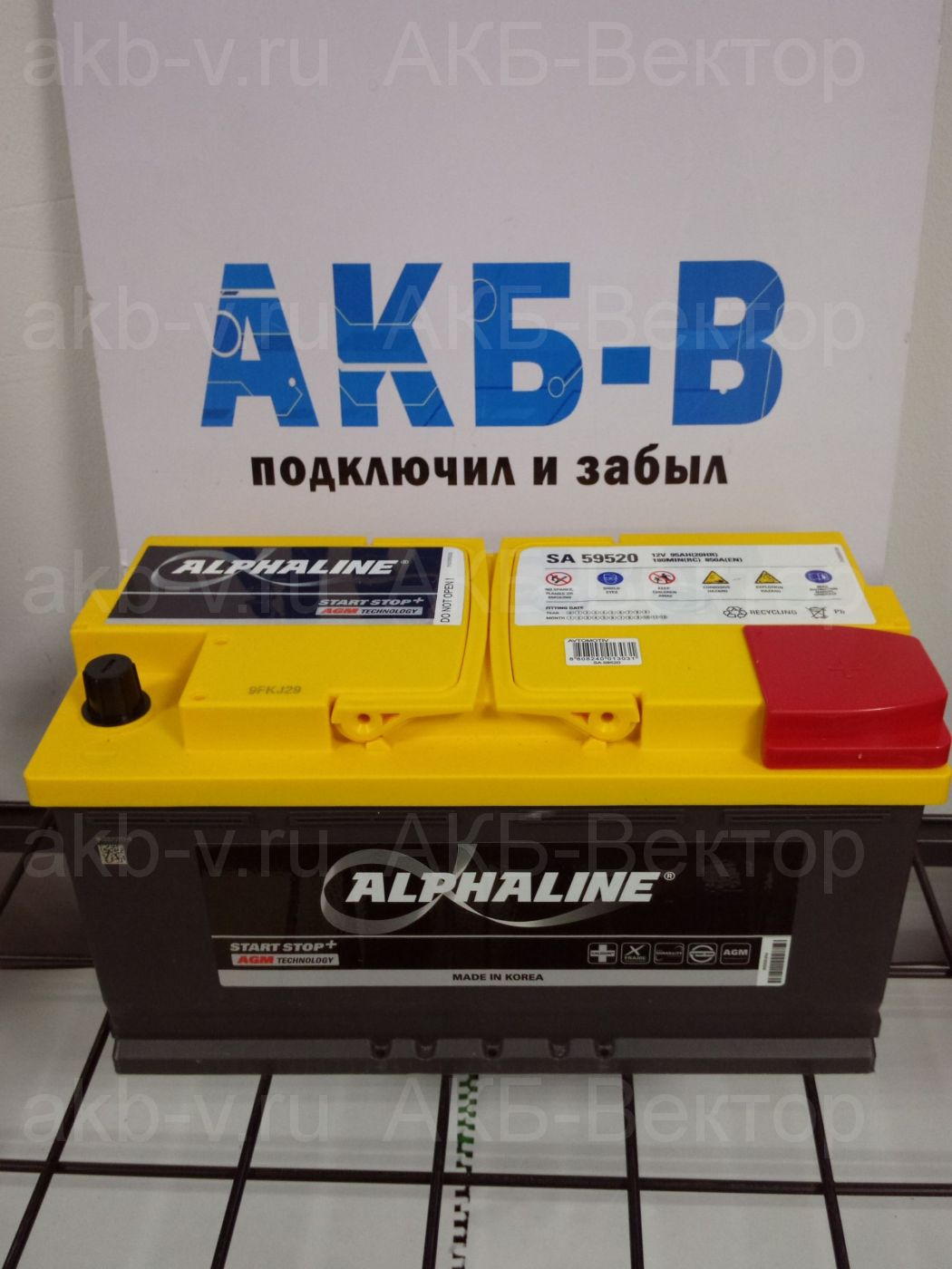 Аккумулятор Alphaline AGM 105Ач 950А(EN) L6 (SA 60520) 2021г.