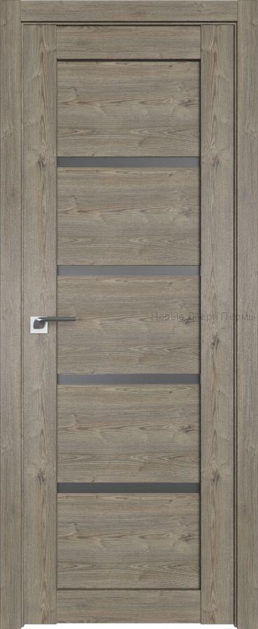 2.09 XN Каштан тёмный стекло Графит дверь PROFIL DOORS межкомнатная