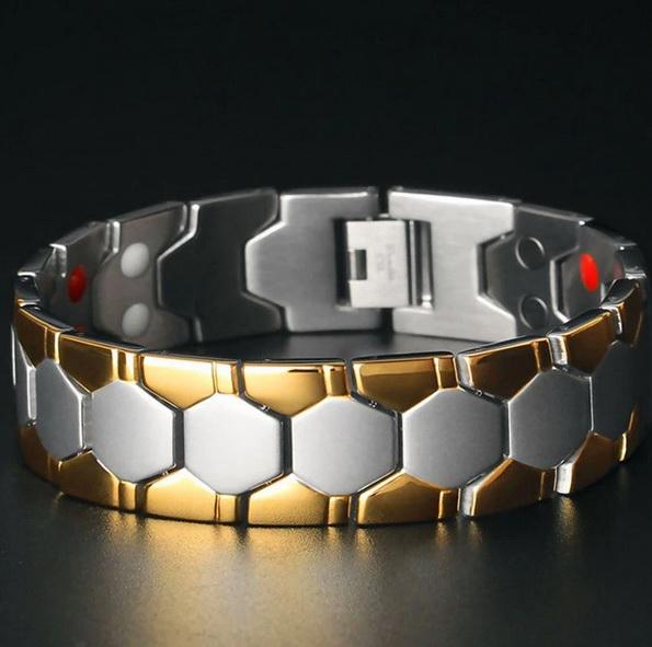 Магнитный браслет 01-SL001StG