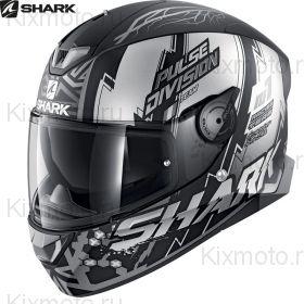 Шлем Shark Skwal 2 Noxxys, Черно-серебряный