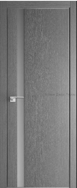 6ZN Стоун, кромка ABS, стекло серебряный лак дверь PROFIL DOORS межкомнатная