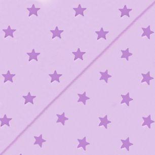 Польский хлопок со звёздами сиреневый 50х40см