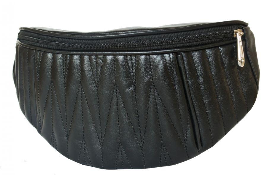 Кожаная поясная сумка Carlo Gattini Molfetta black