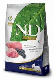 N&D LAMB&BLUEBERRY Adult mini б/з (Ягненок+черника для взрослых собак мелких пород)