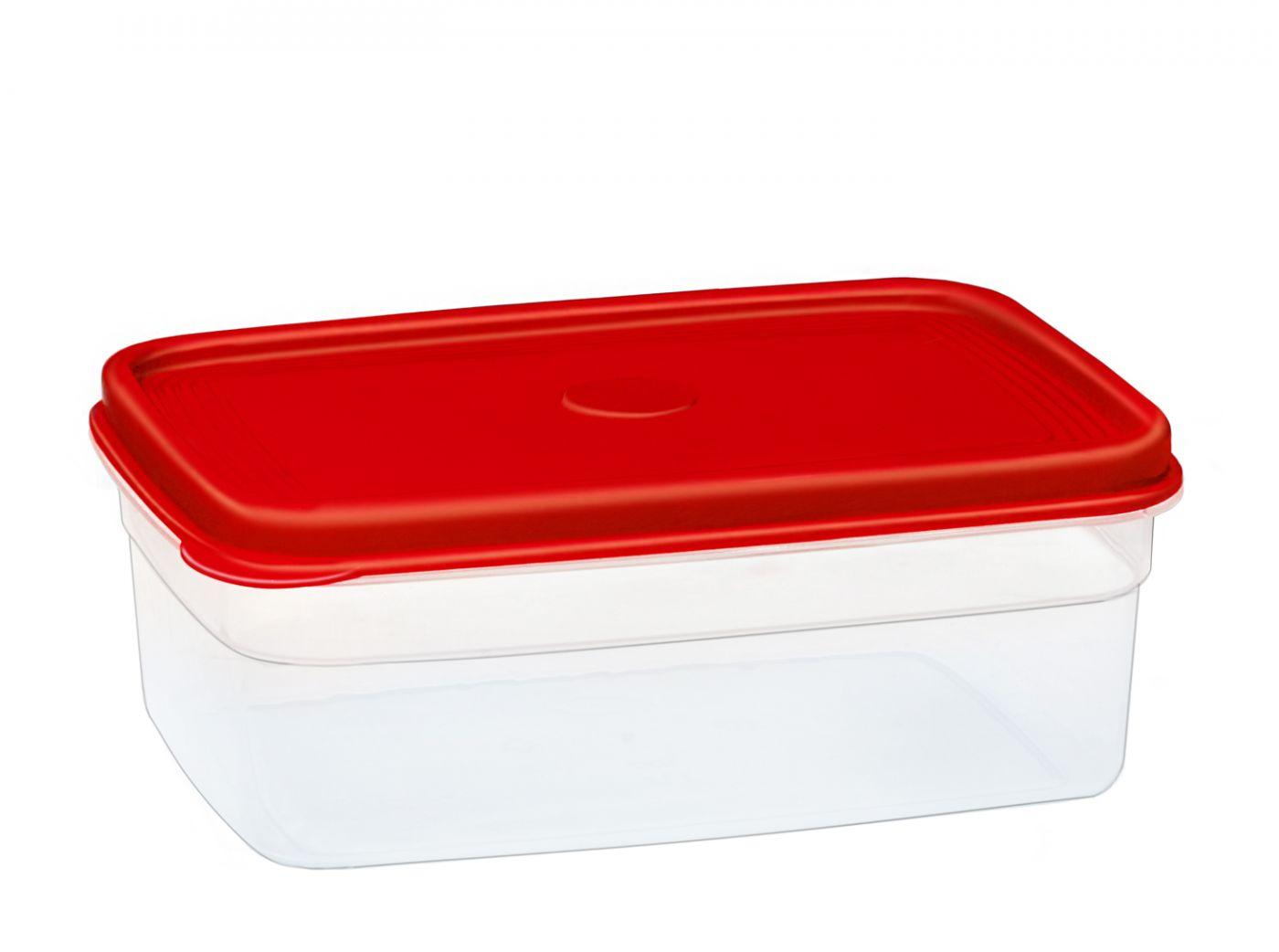 Бутербродница прямоугольная 1,7 литра Эльфпласт контейнер для хранения еды с крышкой 22x15,8x8 см