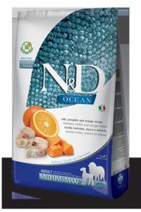 N&D Ocean Codfish Pumpkin & Orange medium&maxi adult (треска c тыквой и апельсином)