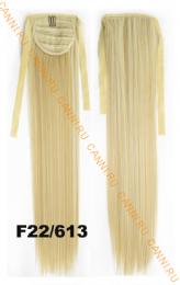 Искусственные термостойкие волосы - хвост прямые №F22/613 (55 см) -  80 гр.