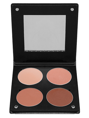 Make-Up Atelier Paris Palette Blush Powder 3D BL3DBO Румяна в палитре на 4 цвета коричнево-оранжевая гамма с зеркалом
