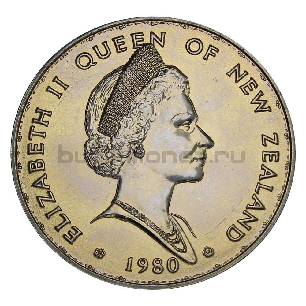 1 доллар 1980 Новая Зеландия Веерохвостка