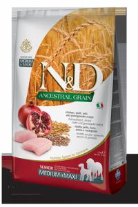 N&D Low Grain CHICKEN & POMEGRANTE Senior medium&maxi (курица+гранат для пожилых собак средних и крупных  пород)